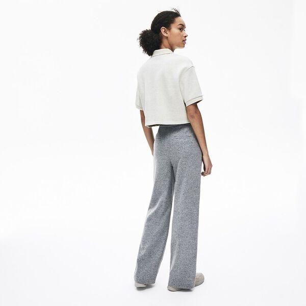 Women's Lacoste Motion Double Face Polo, FLOUR, hi-res