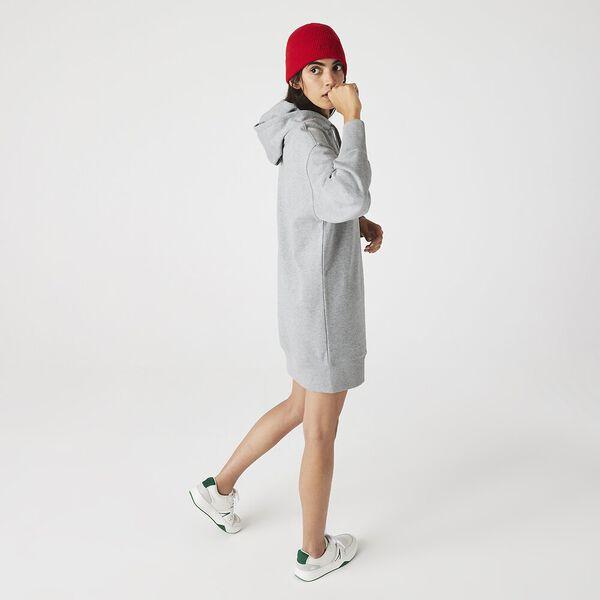 Women's LIVE Hooded Oversized Sweatshirt Dress, HEATHER WALL CHINE, hi-res