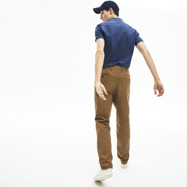 Men's Slim fit Lacoste Polo Shirt in petit piqué, BLEU INDIGO MOYEN, hi-res
