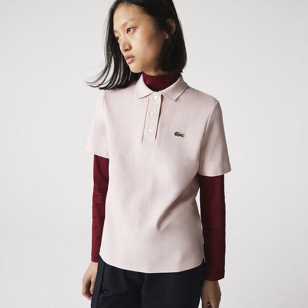 Women's Regular Fit Striped Organic Cotton Polo