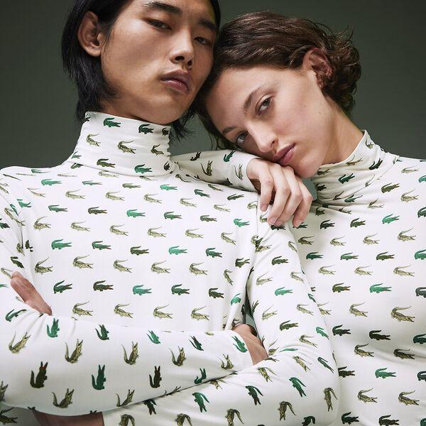 Unisex Fashion Show Iconics All Over Print Polo Neck Tee