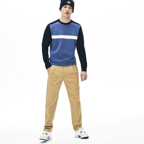Men's Colour Block Sweatshirt, NAVY BLUE/FLOUR-KING, hi-res