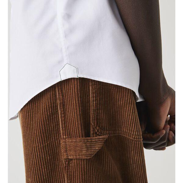 Men's Textured Cotton Poplin Shirt, WHITE, hi-res