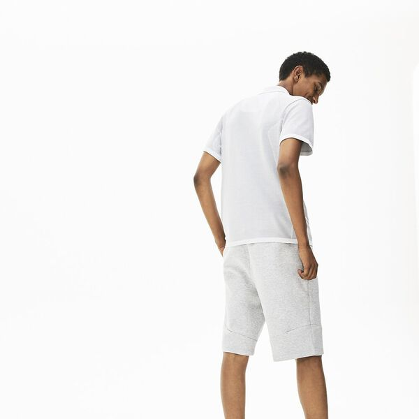 Men's Seamless Side Panel Slim Fit Polo, SILVER CHINE, hi-res