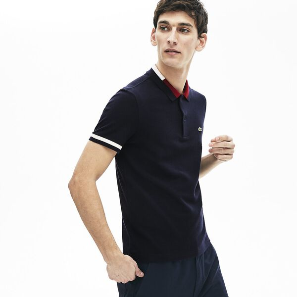 Men's Contrast Cotton Polo Shirt