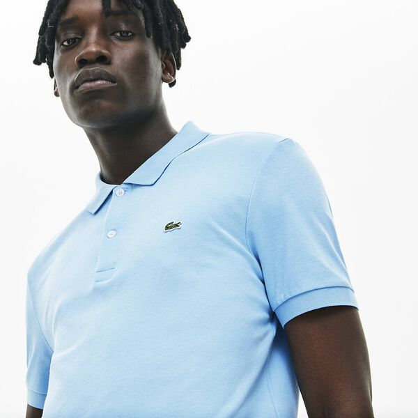 Men's Regular Fit Lightweight Cotton Polo, BARBEAU, hi-res