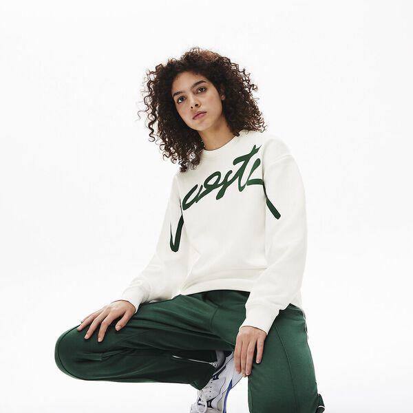 Unisex L!Ive Signature Sweatshirt, FLOUR/GREEN, hi-res