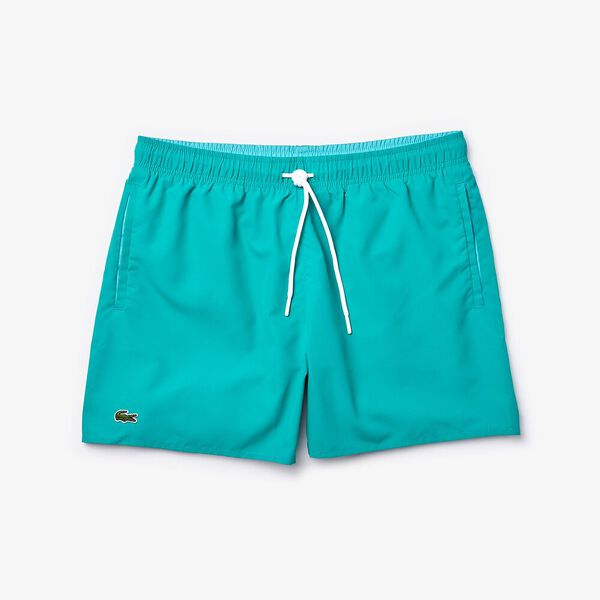 Men's Light Quick-Dry Swim Shorts, NIAGARA/CICER, hi-res