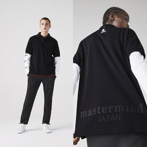 Unisex Lacoste X Mastermind JAPAN Classic Fit Polo, BLACK, hi-res
