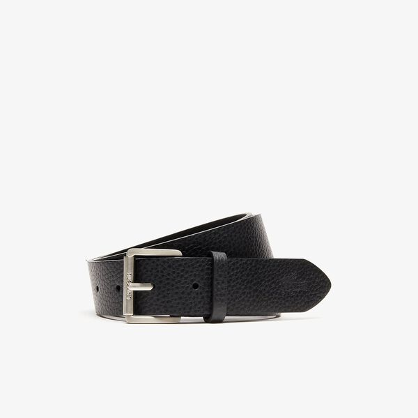 Men's Casual 35Mm Leather Belt, BLACK, hi-res