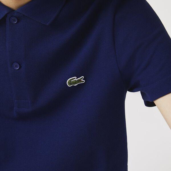 Men's Embroidered Logo Cotton Piqué Polo, SCILLE, hi-res