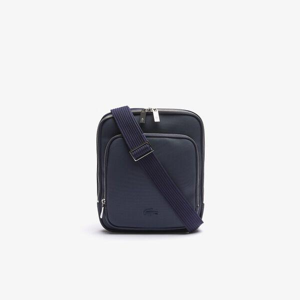 Men's Classic Zippered Pocket Rectangular Crossbody Bag, MARINE, hi-res