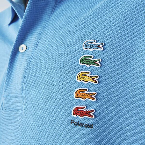 Men's Lacoste x Polaroid Colored Crocodiles Cotton Piqué Polo, FIJI, hi-res