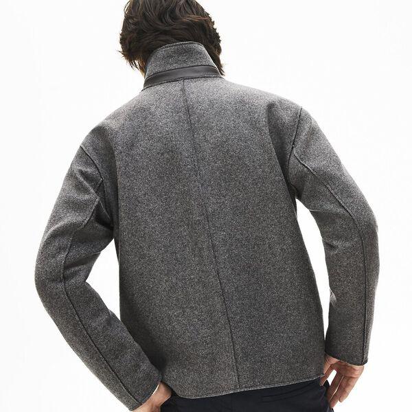 Men's Chic Wool Blend Jacket, IRON CHINE, hi-res