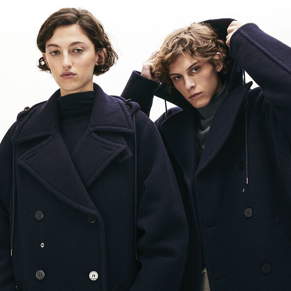 Unisex Lacoste X Gloverall Wool Coat