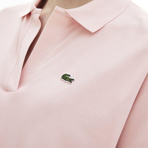 Women's Lacoste Flowy Piqué Polo Shirt, NIDUS, hi-res