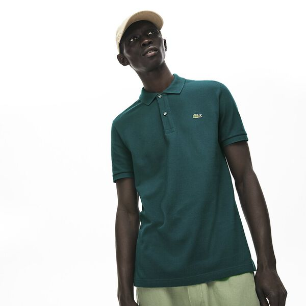 Men's Slim fit Lacoste Polo Shirt in petit piqué, PIN, hi-res