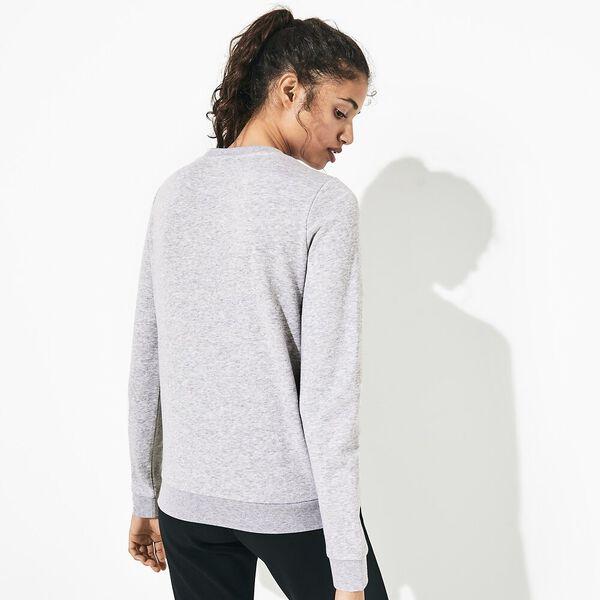 Women's Basic Crew Neck Sweatshirt, SILVER CHINE, hi-res