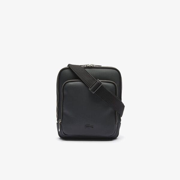 Men's Classic Zippered Pocket Rectangular Crossbody Bag