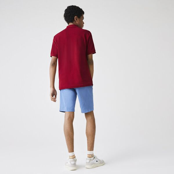 Men's Gabardine Bermuda Shorts, TURQUIN BLUE, hi-res