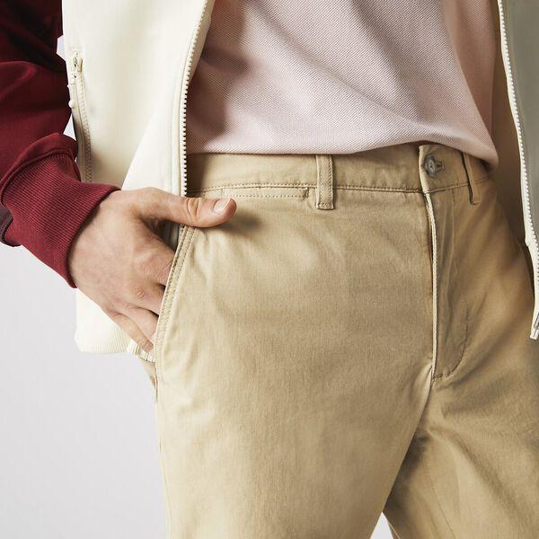 Men's Slim Fit Gabardine Chino Pants, VIENNESE, hi-res