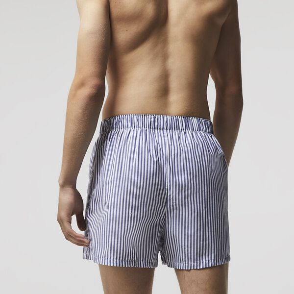 Pack Of 3 Authentics Striped Boxers, NAVY BLUE/WHITE-TROPICAL, hi-res