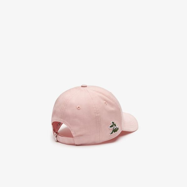 PALM CROC SIDE LOGO CAP, ELF PINK, hi-res
