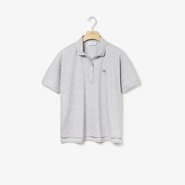 Women's Relaxed Fit Polo, SILVER CHINE, hi-res