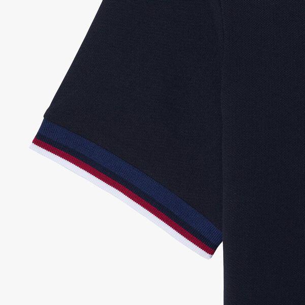 Men's Regular Fit Striped Collar Polo, ABYSM, hi-res