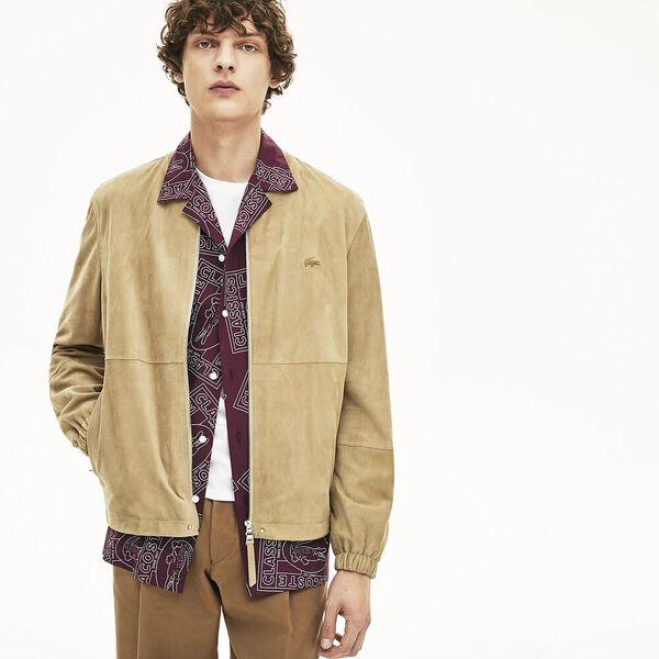 Men's Premium Suede Leather Zip Bomber