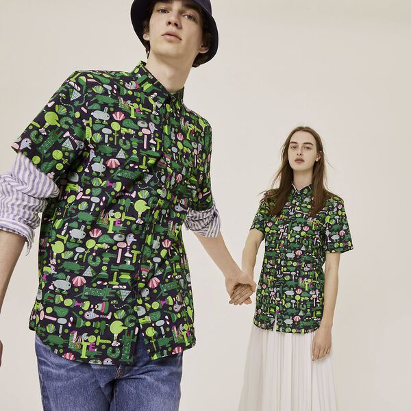 Unisex Lacoste x Jeremyville Regular Fit Cotton Shirt