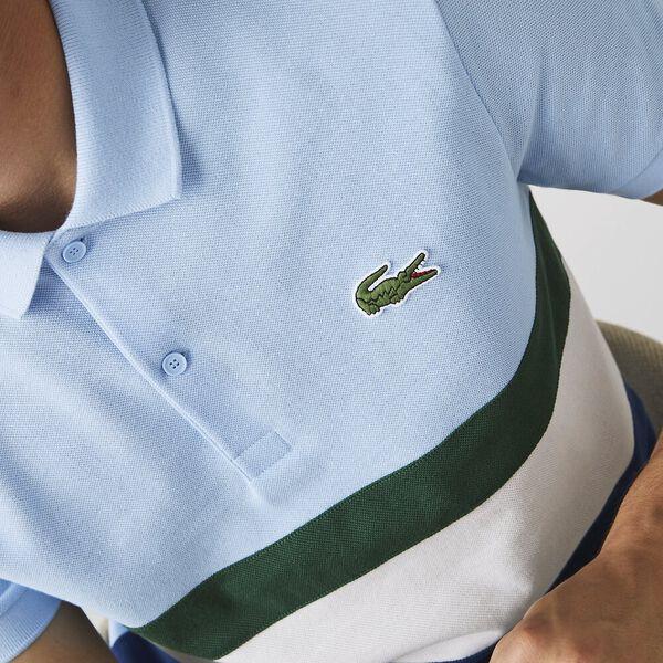 Men's Regular Fit Colorblock Cotton Polo, GLOBE/FLOUR-GREEN-OVERVIE, hi-res