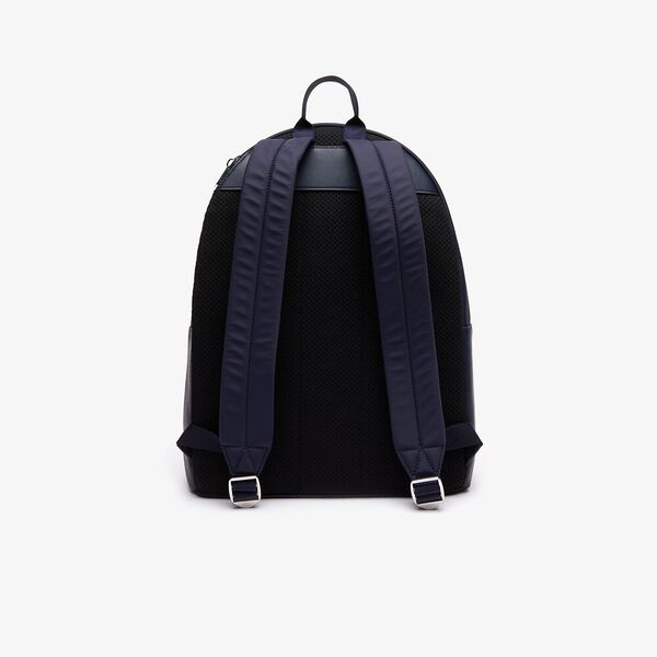 Men's L.12.12 Cuir Backpack, DARK SAPPHIRE, hi-res