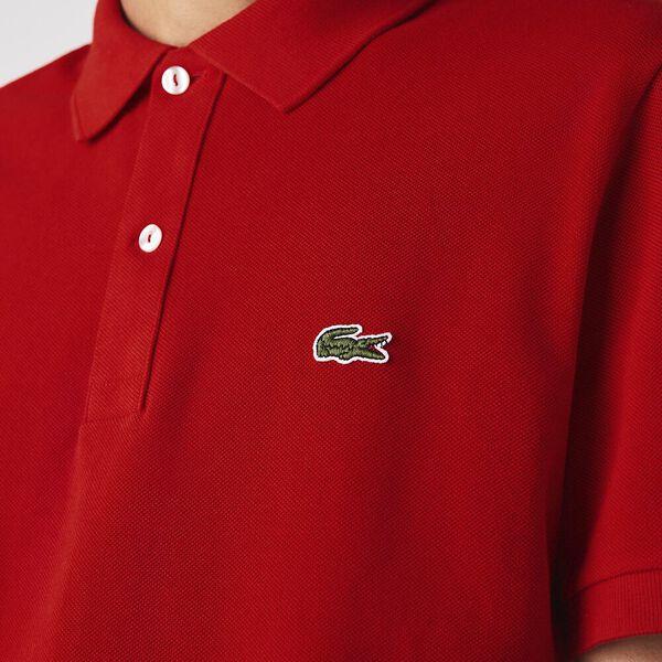 Men's Slim Fit Polo, RED, hi-res
