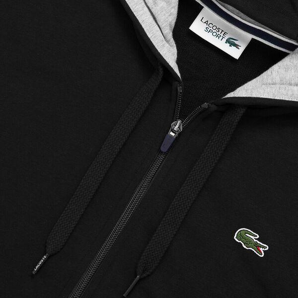 Men's SPORT Fleece Crew neck Sweatshirt, NOIR/BITUME CHINE, hi-res