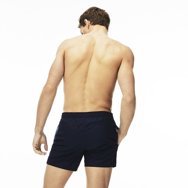 Men's Basic Swim Short, NAVY BLUE/CREEK, hi-res