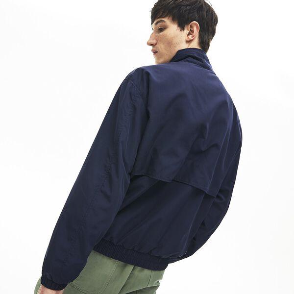 Men's Print Band Zip Heritage Tracksuit Jacket, MARINE SOMBRE, hi-res