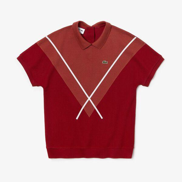 Women's Made In France Technical Pique Polo, ALIZARIN/ESTRIS-FLOUR, hi-res