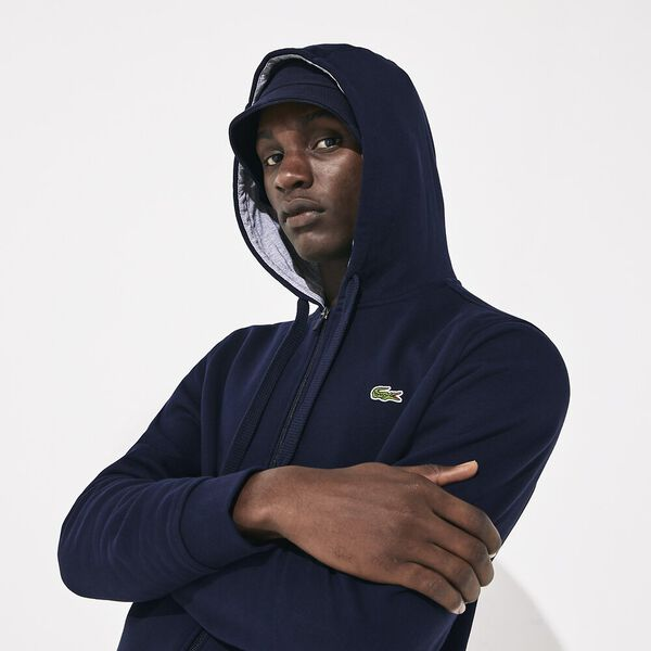Men's Basic Sport Hoodie, NAVY BLUE/SILVER CHINE, hi-res