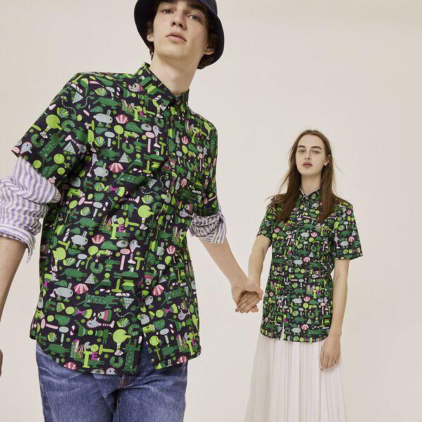 Unisex Lacoste x Jeremyville Regular Fit Cotton Shirt