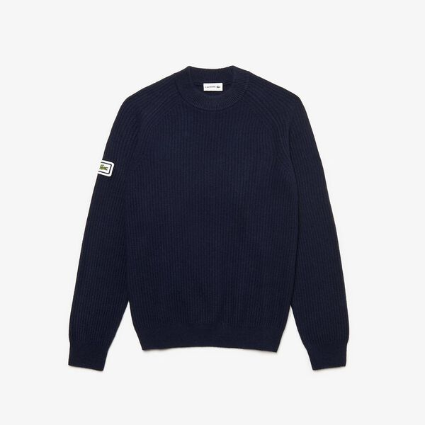 Men's 90S Sportswear Crew Neck Knit, NAVY BLUE, hi-res