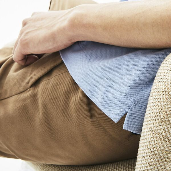 Men's Lacoste Paris Polo Shirt Regular Fit Stretch Cotton Piqué, PURPY, hi-res