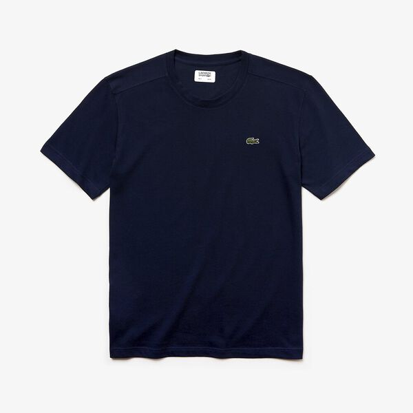 Men's Basic Crew Neck Sport Tee, NAVY BLUE, hi-res