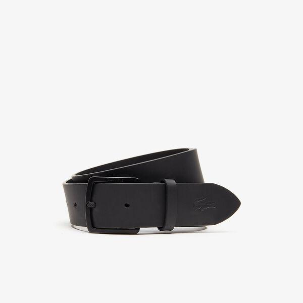 Men's Casual 35Mm Split Leather Belt, BLACK, hi-res