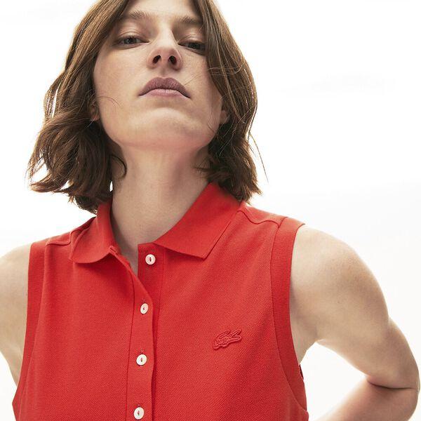Women's Sleeveless Cotton Piqué Polo, ENERGIE, hi-res