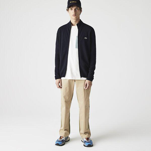 Men's Wool Zip Cardigan