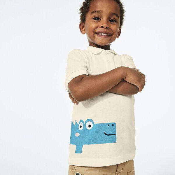 Boy's Crocodile Print  Polo Shirt