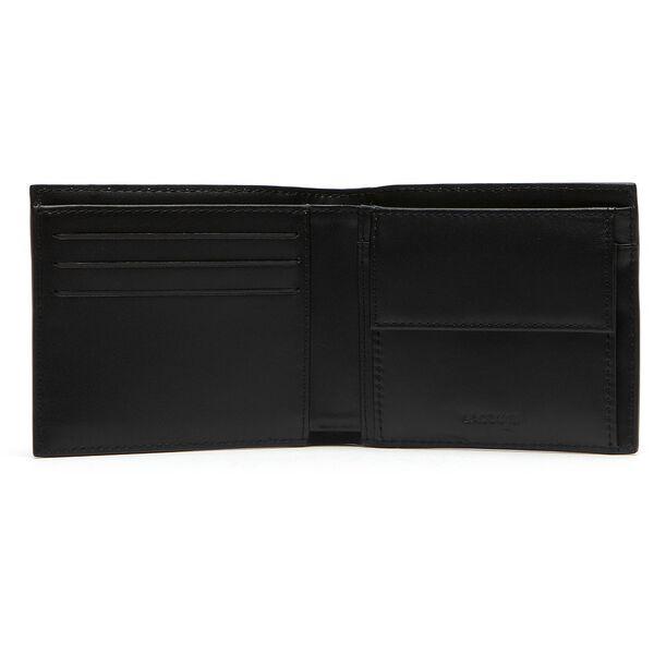 Men's Fitzgerald billfold in leather, BLACK, hi-res
