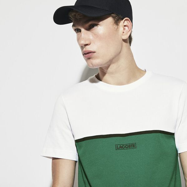 MEN'S COLOUR BLOCK LOGO TEE