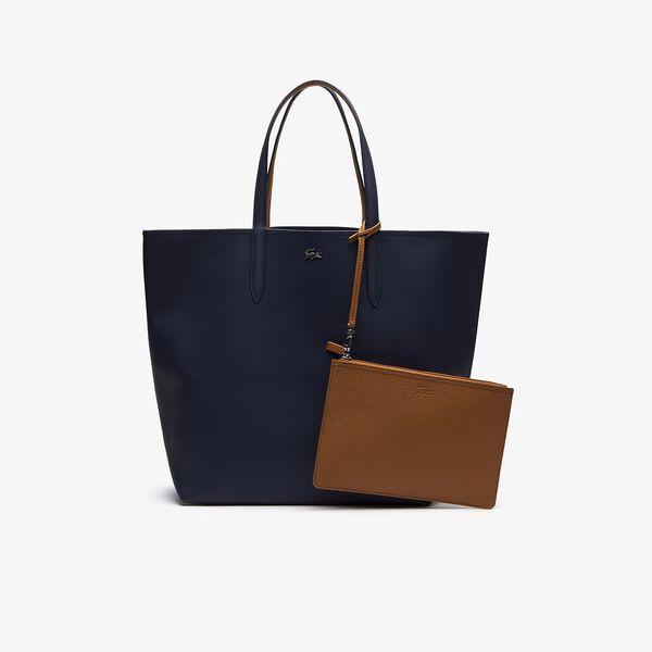 WOMEN'S ANNA LARGE SHOPPING BAG, PEACOAT CASHEW, hi-res